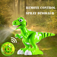 Infrared remote control dinosaur walking dance spraying intelligent interactive dinosaur toy model remote control pet animal gif