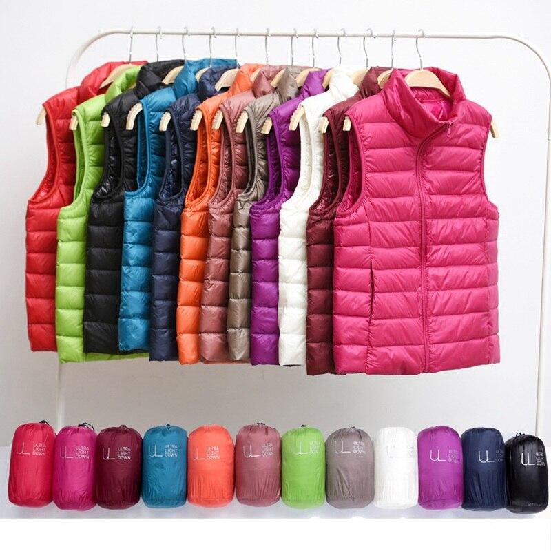 Hiver femmes bas gilet mode femme sans manches gilet veste chaude doudoune grande taille femmes sans manches vestes taille S-XXXL