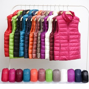 Image 1 - Winter Vrouwen Down Vest Mode Vrouwelijke Mouwloze Vest Jas Warm Donsjack Plus Size Vrouwen Mouwloze Jassen Maat S XXXL