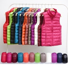 Winter Women Down Vest Fashion Female Sleeveless Vest Jacket Warm Down Jacket Plus Size Women Sleeveless Jackets Size S XXXL