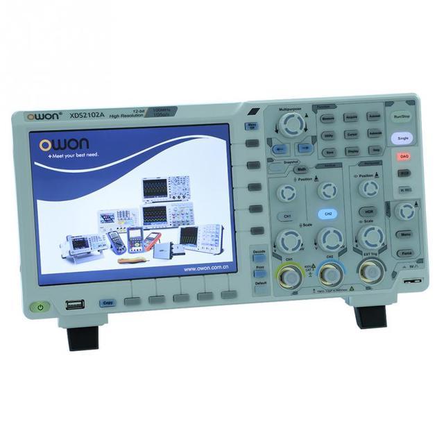 OWON XDS2102A אוסצילוסקופ ערכת 100MHz גבוהה רזולוציה ADC דיגיטלי אוסצילוסקופ ADC לפענח איחוד אירופי תקע