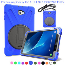 Kids Heavy Duty Silicone Hard Case Cover Protector Stand funda Tablet For Samsung Galaxy Tab A 10.1 2016 SM-t585 T580 SM-T580 цены