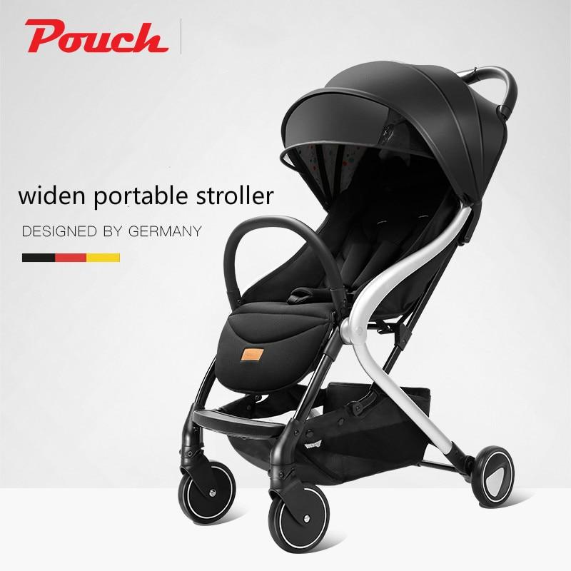 Pochette bébé poussette élargir Portable poussette nouveau-né poussette se plie facilement et commodément 0-3 ans peut s'asseoir et se coucher