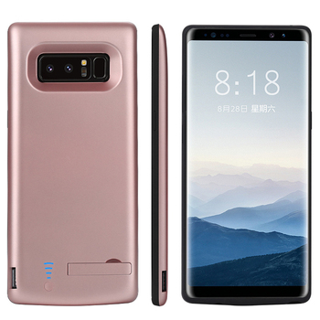 Ɛ�帯電話バッテリーケース 6500 Mah ĸ�星銀河注 8 Note8 Ť�部バッテリー充電器ケースパワーバンク充電カバー