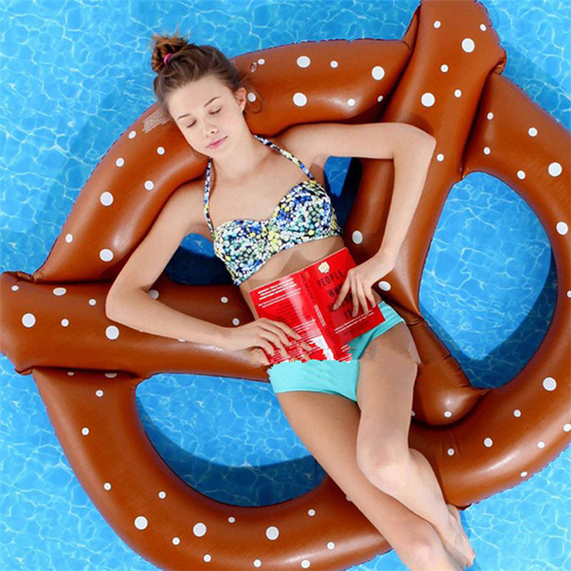 3 People 60 inch Summer Gigantic Donut Chocolate Swimming Pool Inflatable Floats pool toys Doughnut Swim Ring Water Beach Toys
