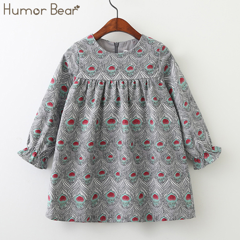 Humor Bear 2018 Children Clothes Girls Spring and Autumn Dress European and American Style Kids Dress Princess Dresses humor bear girls dresses brand autumn