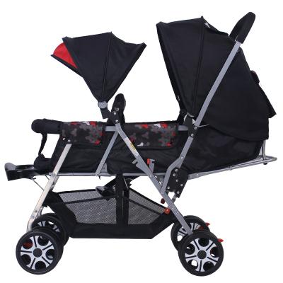 Gêmeo Do Bebê Carrinho Duplo Carrinho de criança Leve dobrável carrinho de carrinhos de assento dianteiro e traseiro Duplo