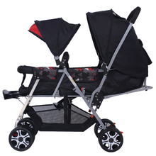 Twin Baby Stroller Double Stroller Lightweight foldable front and rear seat carts Double cart