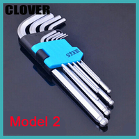 9 In 1 Hex Key Wrench Multi Size Ball End Allen Wrench Universal Spanner Set Household