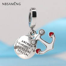 Authentic 925 Sterling Silver Bead Neo của Tình Yêu Charm với Red & Black Men Dangle Charms Fit Pandora Bracelet DIY đồ trang sức(China)