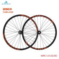 SOBATO New arrival MTB wheelset 29er 35mm Hookless 29er carbon mtb wheels Tubeless 28H 29 carbon mountain bike wheel for sale