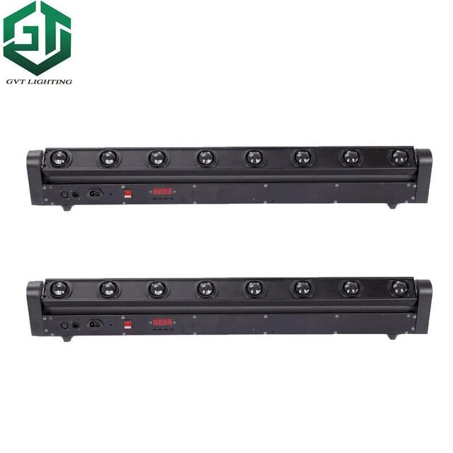 2 개/몫 빠른 배송 완벽 한 간단한 이동 머리 빛 LED 바 빔 8 밴드 DJ 나이트 클럽 LED 바 8x12W 4 1 RGBW