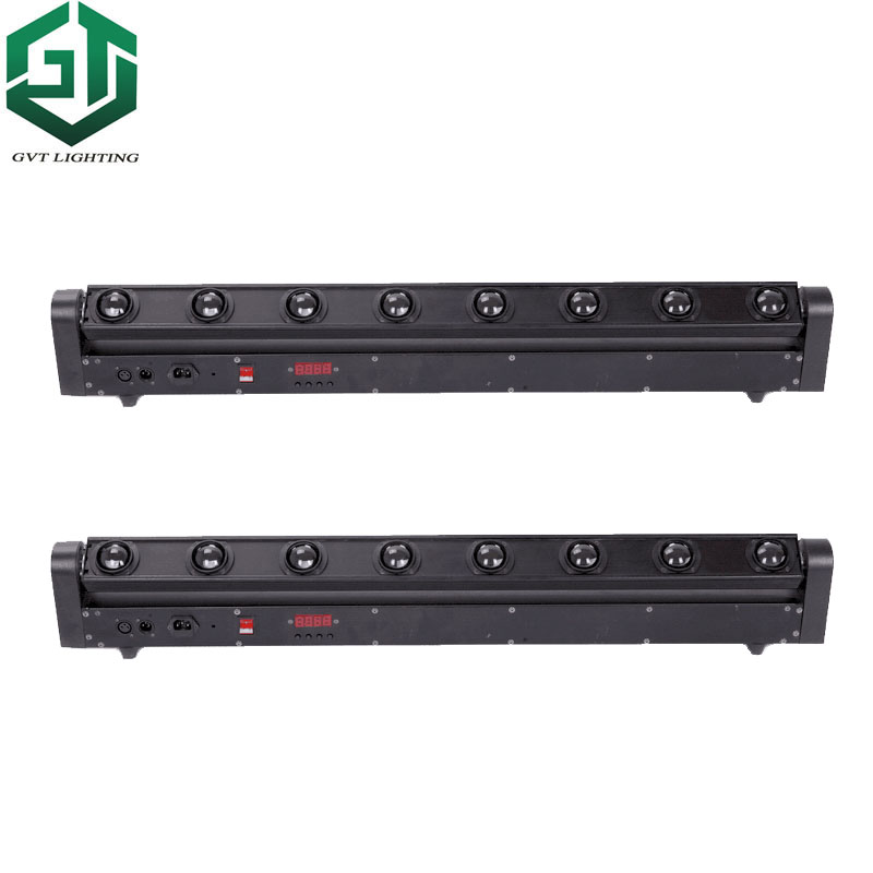 2pcs/lot Fast Shipping Perfect Simple Moving Head Light LED Bar Beam 8 For Bands DJ Nightclub LED Bar 8x12W 4 In 1 RGBW