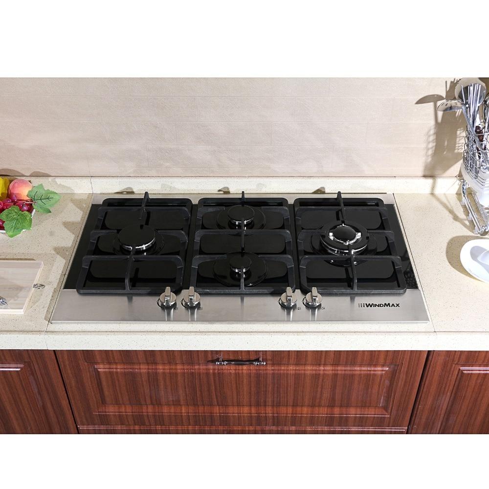 Kitchen Gas Hob ~ Fashion quot black tempered glass built in kitchen burner