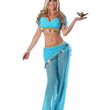 da0d97908 Classic Women Belly Dancing Dresses Sexy Blue See Through Indian Arabian  Cosplay Costume Dancer Performance Clothings