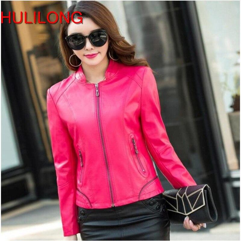 2017 New Women Leather Jackets Fashion Female Outerwear Motorcycle Leather Coat Outwear Women Jacket Plus Size 4xl Black