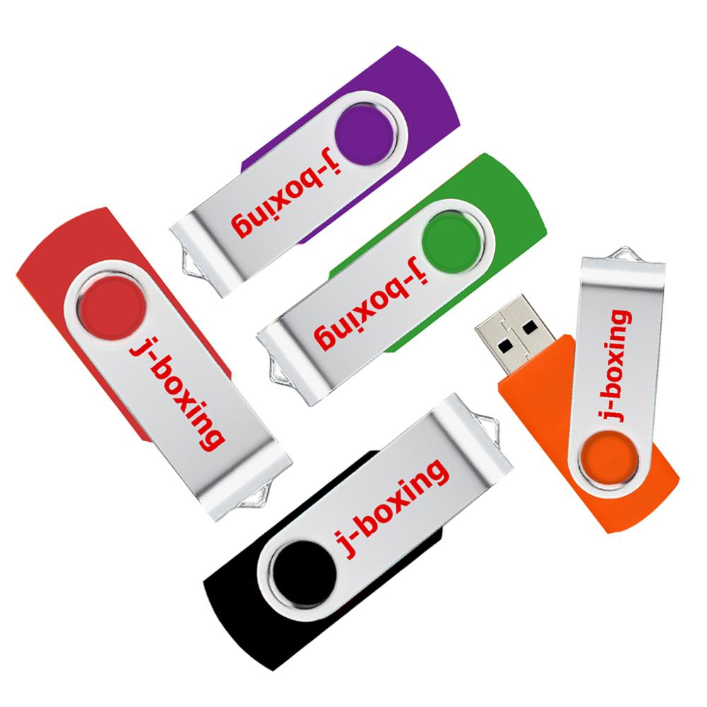 Image 2 - J boxing USB Flash Drives Thumb Drive Metal Swivel Pendrives 1GB 2GB 4GB 8 GB 16 GB 32 GB Multicolor for PC Mac Tablet 5PCS/Pack-in USB Flash Drives from Computer & Office
