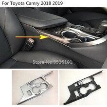 Alta Qualidade car vara Mudança Tenda inner oriente frente Pá copo lâmpada guarnição quadro capas Para Toyota Camry Novo XV70 2017 2018 2019