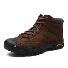 Genuine Leather Hiking Shoes Men's Waterproof Trekking boots Anti-Slip Outdoor Walking Climbing Sneakers Male Ankle Winter Boots hiking boots women waterproof mouantain shoes winter snow boots for women anti slip outdoor trekking sneakers ladies boots