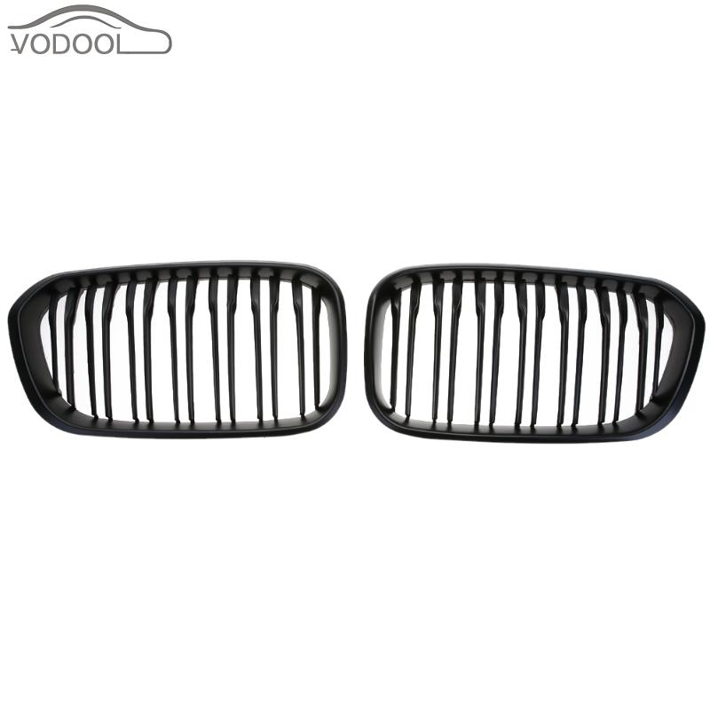 1 Pair Car Front Kidney Grille Matte Black Racing Grill for BMW 1 Series F20 F21 LCI 118 120 125 135i 2015 Auto Accessories 3 series carbon front bumper racing grill grills for bmw f30 f31 standard sport 12 16 320i 325i 330i 340i non m3 style car cover