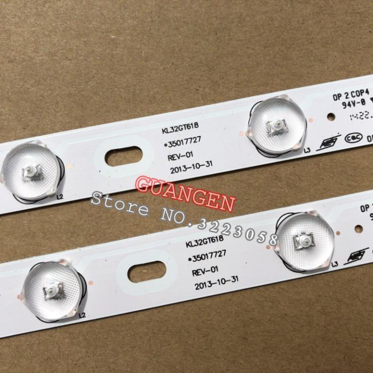 10PCS 100 New KONKA KL32GT618 LED backlight 35017727 10leds 64 4cm 1set 2 pieces