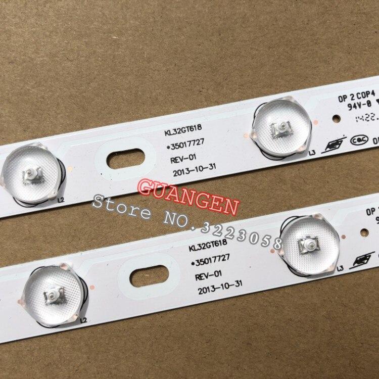 10PCS 100%New KONKA KL32GT618 LED Backlight 35017727 10leds 64.4cm 1set=2 Pieces