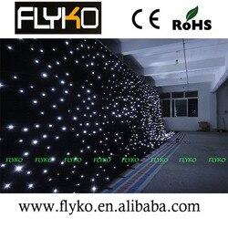 W wielkiej brytanii ogniotrwały 4M * 6M LED gwiazda tkaniny  LED wizja tkaniny  LED zasłona w Oświetlenie sceniczne od Lampy i oświetlenie na