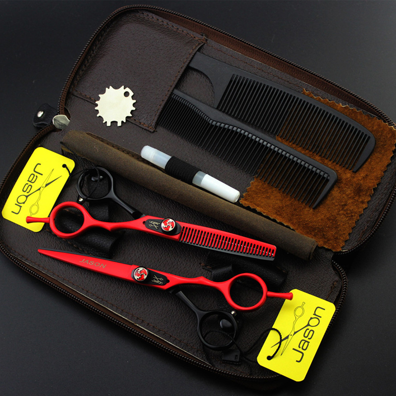 Professional Styling Hairdressing tools 6 inches 440C high quality hair scissors barber salon hair cutting shears set with case high quality jp440c hairdressing scissors barber scissors hair scissor set salon scissors hairdressing tools 5 free shipping