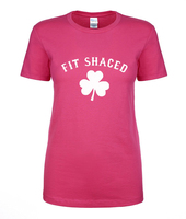 St Patrick's Day women t shirt Fit Shaced Shamrock printed summer woman shirts 2016 100% cotton casual slim fit top tees S-XL