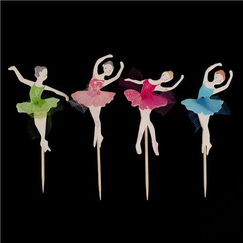 Dancing Ballet Girl Food Fruit Picks Forks Bento Lunch Box Decor Accessory Set