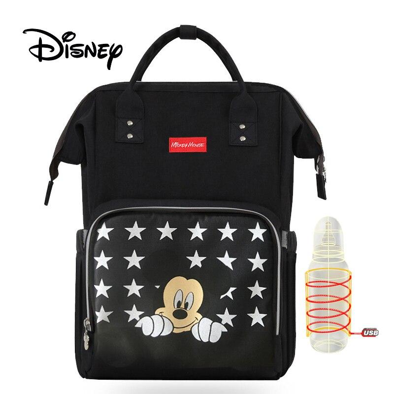 Mickey Minnie Travel Diaper Bag Bolsa Maternidade Waterproof Stroller Bag USB Baby Bottle Warmer Mummy Backpack Nappy BagMickey Minnie Travel Diaper Bag Bolsa Maternidade Waterproof Stroller Bag USB Baby Bottle Warmer Mummy Backpack Nappy Bag