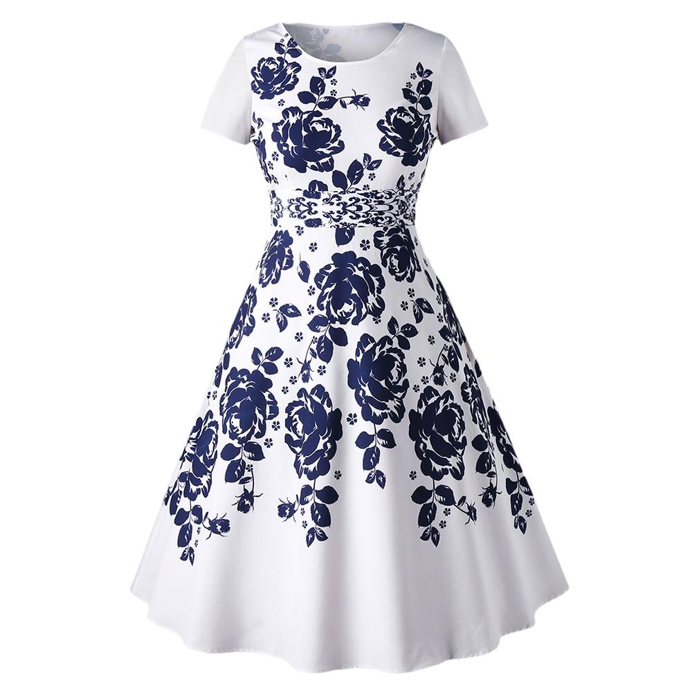 Aliexpress Com Buy Elegant Flare Sleeve Wedding Dress: Aliexpress.com : Buy Gamiss Plus Size Short Sleeve Floral