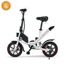 LOVELION Adult Portable Mini foldable electric bike Driving Bicycle convenient folding Small-scale ebike Black Battery bikes