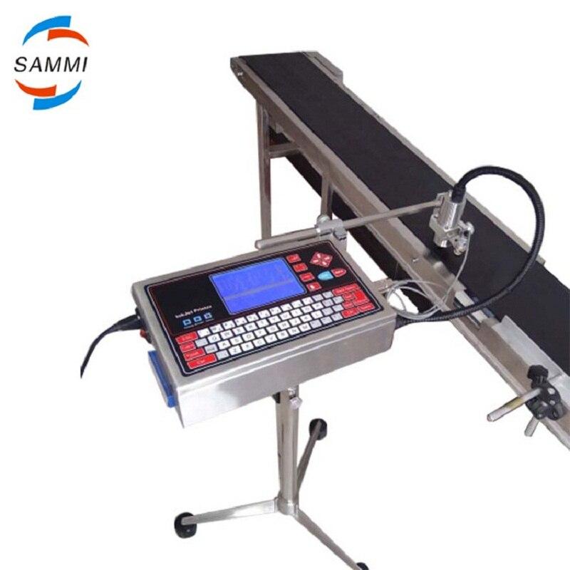 Machine d'impression à jet d'encre couleur unique, machine de codage de date, codeur de date à jet d'encre avec convoyeur