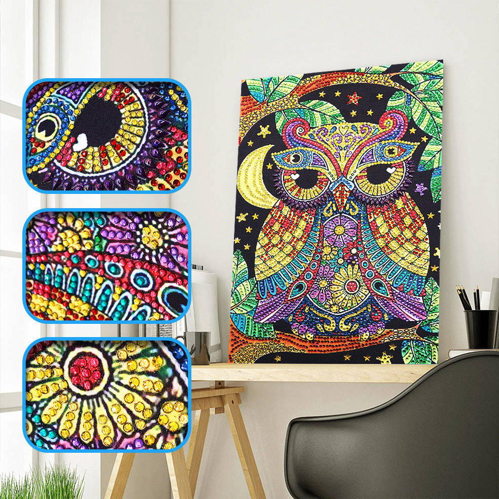 Special Shaped Diamond Painting DIY 5D Partial Drill Cross Stitch Kits Crystal