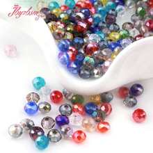 Mixed Colors 50pc Rondelle Austria Crystal Glass Beads Faceted Loose Spacer For Jewelry Making DIY Necklace Breaclet Beads 3*4mm(China)