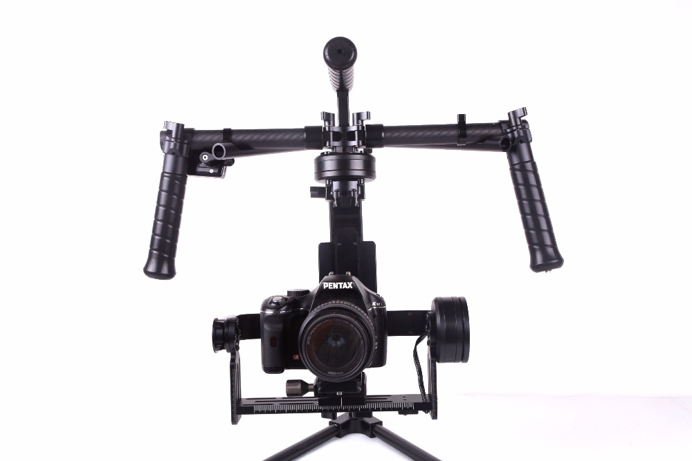 RCMOY CNC 3-Axis Brushless Gimbal Stabilizer w/ 2 gyro sensor 32-bit BASECAM joystick for Canon Mark II, III,5D3/GH4/A7S/BMPCC upgraded rtf iflight g15 dslr handheld brushless gimbal w alexmos basecam controller motor w encoder for 5d gh3 gh4 a7s bmpcc