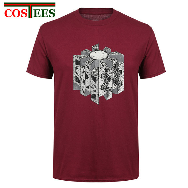 ff12851b9ab Low Discount Geek Hellraiser Puzzlebox Funny T shirt men Cotton Short  Sleeve T-shirt Men s