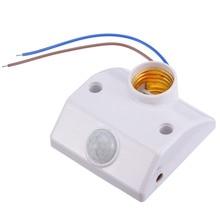 цена на E27 PIR Infrared Motion Sensor LED Light Lamp Holder LED Lamp Base PIR Motion Sensor Switch Light Holder Socket