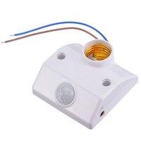 E27 pir base de lâmpada  com sensor de movimento infravermelho led  suporte para lâmpada  sensor de movimento pir  soquete