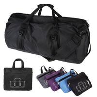 Hot Nylon Portable Single Shoulder Bags Nylon Cylindrical Gym Sports Bags Barrel Fitness Bag Handbag Blue
