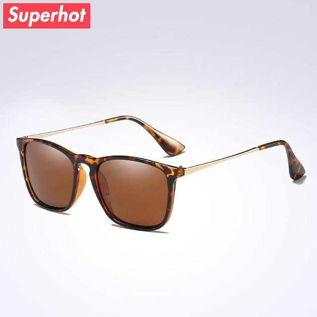 06172f87a52c Superhot Eyewear - Polarized Sunglasses Men Women Brand Designer Sun glasses  Tortoise Frame Brown Lenses 6 color UV400 SP4187