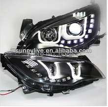 for Excelle XT Astra J LED Strip U Style Angel Eyes Head Light Right hand drive