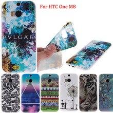 Para HTC One M8 Casos Covers Design de Moda IMD Brilhante Suave voltar Pele À Prova de Choque Caso de Telefone Celular Capa Para HTC One M8