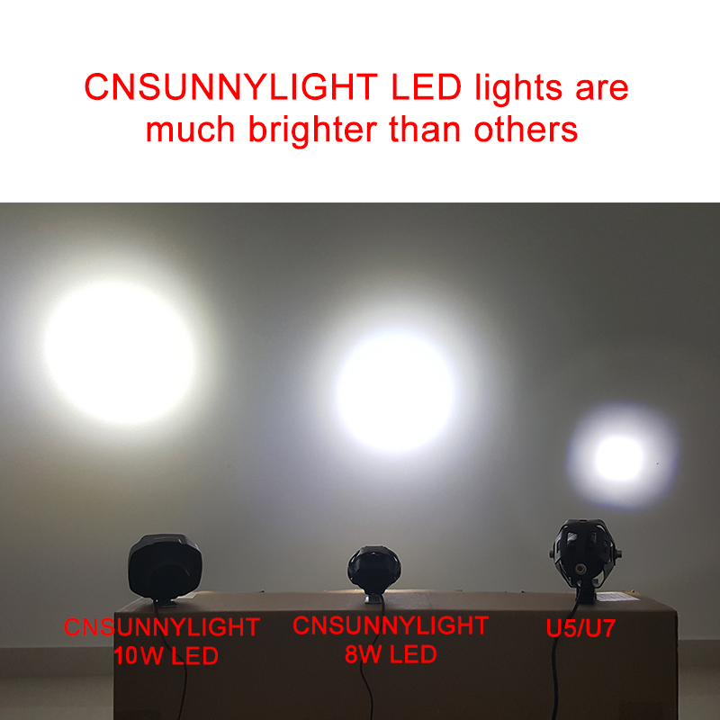 CNSUNNYLIGHT Motorbike Scooter LED Spotlight Motorcycles Headlight (3)