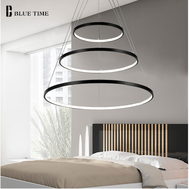 Modern LED Pendant Light Circle Rings Home LED Pendant Lamp For Living room Dining room Bedroom Hanging lamp Lighting Fixtures circle new modern led pendant light for dining room living room bedroom study room lustures led pendant lamps lighting fixtures
