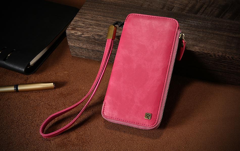 Floveme vintage wallet case dla iphone 6 6 s 7 plus skórzanej oprawie zipper torebka posiadacza karty retro przypadki telefonów dla iphone 6 6 s 7 17