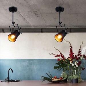 Image 3 - جديد الصناعية قلادة ضوء Vintage Loft قلادة ضوء الأضواء الأمريكية قلادة مصباح LED مصباح مطعم مقهى زخارف للحانات