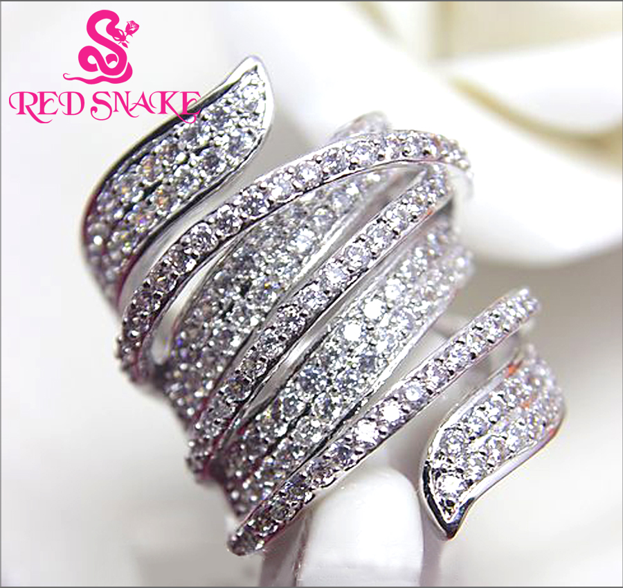 RED SNAKE Brand Product Micro Insert Ring Special Design Fashion Jewelry Rings for Women AAA Zircon 163 Grain of Pebble