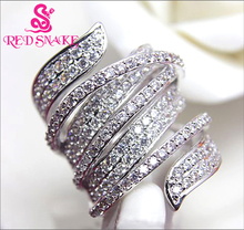RED SNAKE Brand Product Micro Insert Ring Special Design Fashion Jewelry Rings for Women AAA Zircon